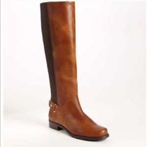 Stuart Weitzman Leather Old West Riding Boots